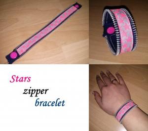 Stars Zipper Bracelet