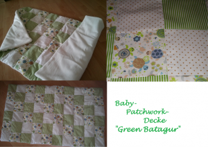 Collage Baby-Decke Green Batagur