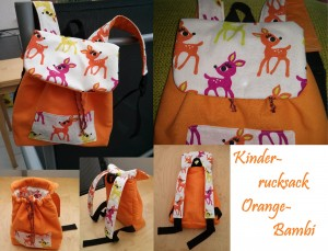 Rucksack Orange-Bambi