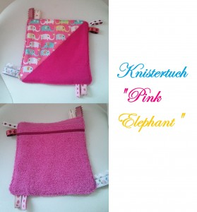 Knistertuch Pink Elephant
